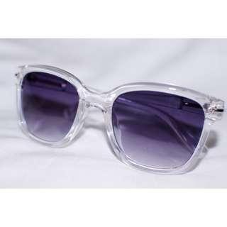Wayfarer Clear Transparent Frame Sunglasses