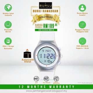 White Watches Buruj Ramadhan Jam Tangan auto Kompas Kiblat