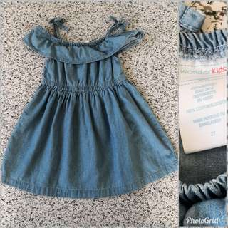 Preloved Wonder Kids Denim Dress - 2T