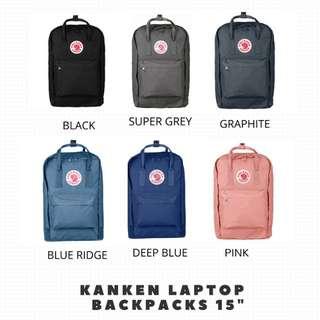 "AUTHENTIC Fjallraven kanken 15"" Laptop Backpack"