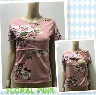 Nursing blouse for breastfeeding mothers