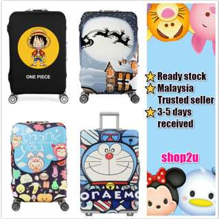 Ready stock👍 Luggage suitcase elastic protector cover Doraemon Bear Hello Kitty Kumamon