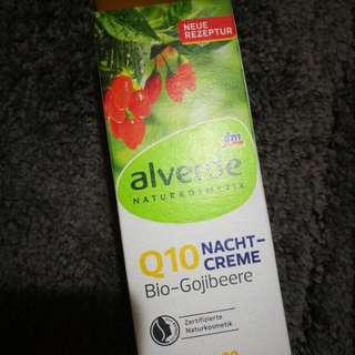包郵 德國 Alverde q10 bio- gojiberries night cream 50ml