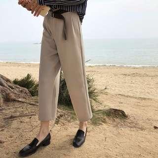 全新 女裝 R478526 春季高腰顯瘦闊腿九分西裝褲寬松休閑褲子