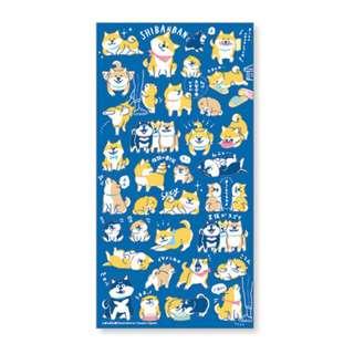 Only 3 Restock! (Mix & Match)*Mind Wave Japan - Shibanban Blue theme Stickers