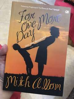 Novel Terjemahan - For One More Day by Mitch Albom