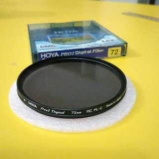 HOYA PRO1 Digital Filter, Circular PL 72mm ( Made in Japan)