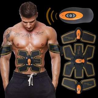 EMS+頂級遙控橘色黃金款 懶人健腹器 專攻八塊機/人魚線懶人塑身機/腹部訓練儀虐肌神器 健身神器 送男友送女友禮物