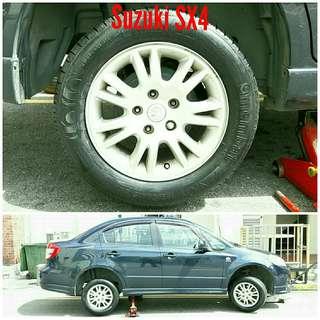 Tyre 195/60 R15 Membat on Suzuki SX4 🐕 Super Offer 🙋♂️