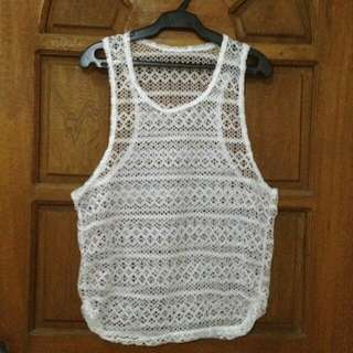 See Through Sando Swimsuit Cover Up