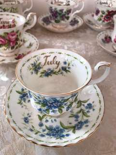 Royal Albert Flower of the Month cup & saucer