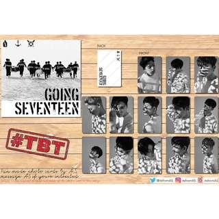 SEVENTEEN GOING SEVENTEEN UNOFFICIAL PHOTO CARDS