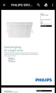 Lito electrician Philips LED down light 12W