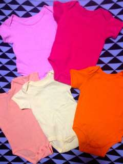 Plain Colored Onesies Set of 5