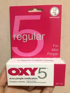 OXY 5 Acne Pimple Medication 10gr