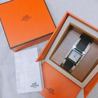 Hermes H hour watch 黑x銀