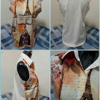 Vintagd Print Buttondown Blouse