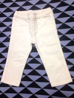 Mothercare White Corduroy Pants