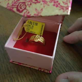 916 Abacus Toad Gold Ring