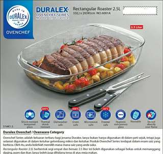 Duralex Ovenchef Rectangular Roaster