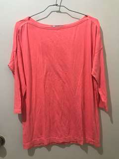 Gap Overrun Coral Pink Top