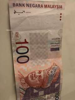 Banknote Rm100