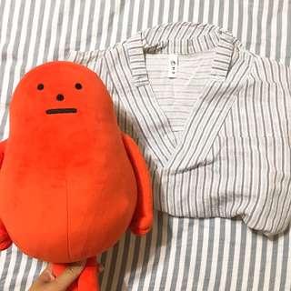韓版 條紋氣質襯衫