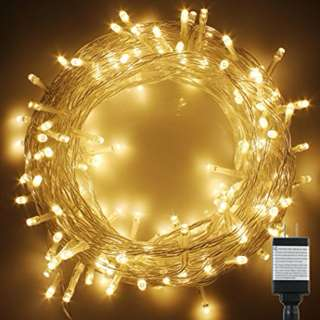 PMS 400 LED 42M Warm White String Fairy Lights On Clear Cable with 8 Light Effects, Ideal for Christmas, Xmas, Party,Wedding,ETC