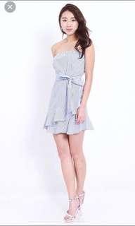 Ava Summer Tube Striped Dress