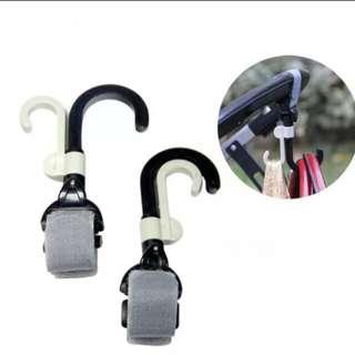 2pcs/lot Baby Stroller Hook Holder Pram Double Rotate Hook Pushchair Hanger