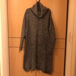 🚚 [二手]灰色高領針織洋裝