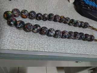 🚚 清代 貿易珠 琉璃 頸墜 珠串