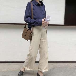 全新 女裝 R158680 春季寬松顯瘦闊腿拖地長褲女高腰簡約休閑褲
