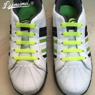 12PCS/Set lacet silicone Fashion Unisex Shoelaces Silicone Elastic children shoelas Waterproof Non Tie Shoe Lace Design For Easy