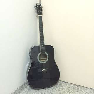 Tgm Black Acoustic Guitar