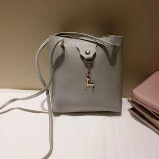 Gray Deer Sling Bag