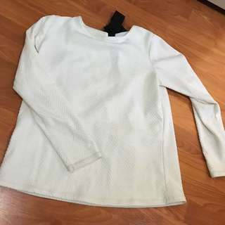CottonInk Long Sleeve White Top
