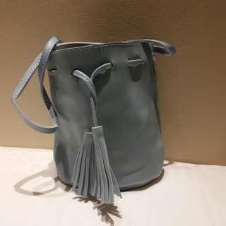 Blue Bucket Sling Bag