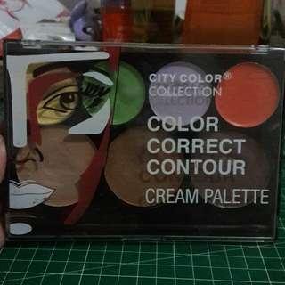 CITY COLOR COLLECTION COLOR CORRECT CONTOUR CREAM PALETTE