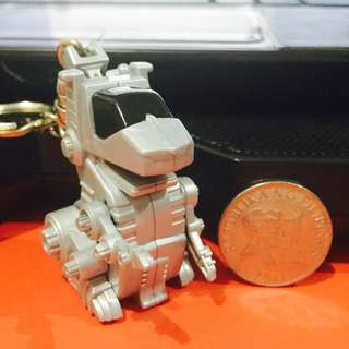 Pull Back Dog Robot Keychain