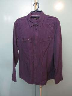 Level 5 Five Violet, Long-sleeved, Button-up Shirt