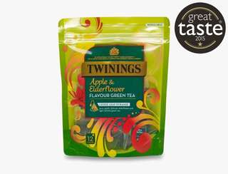 Twinings APPLE AND ELDERFLOWER GREEN TEA - 12 PYRAMID BAGS 川寧蘋果接骨木花茶12茶包裝
