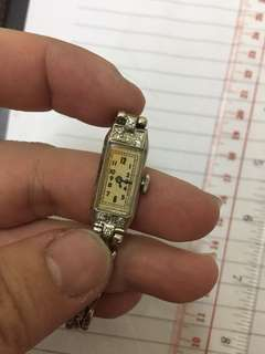 18cm  18k diamond gold Manual mechanical watch (working)18厘米18K钻石金手动机械手表(工作)24.57g