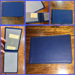 Louis Vuitton Taiga Card Holder Bi Fold Insert Blue