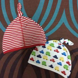 ♻️MOTHERCARE® 2 Piece set baby hats