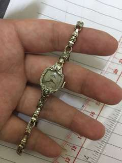 Solar by bulova( 18cm  14k diamond gold Manual mechanical watch (working)18厘米18K钻石金手动机械手表(工作))