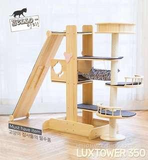 Hello Mangchi Wood Cat Tower Luxtower 350
