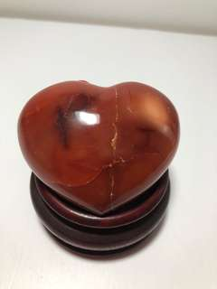 CNL-001 Polished Natural Carnelian Heart