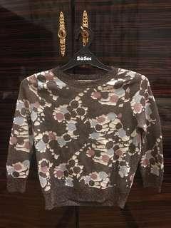 Topshop flowery sweater