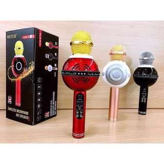 WS878 LED Microphone Colourful Karaoke Party Microphone for Smartphone
